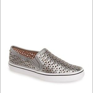 Kate Spade Saddie Laser Slip On Sneaker in Silver